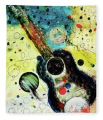 Fleece Blanket featuring the mixed media Favorites by Michael Lucarelli