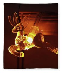 Reindeer Glow Fleece Blanket