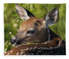 Fawn Over The Shoulder Fleece Blanket