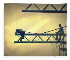Fearless Sky Workers Fleece Blanket