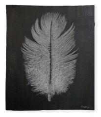Feather 1 Fleece Blanket