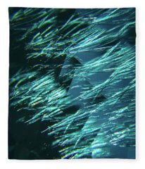 Feather And Leaded Crystal Fleece Blanket