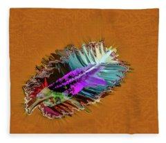 Feather #h8 Fleece Blanket