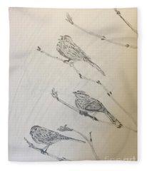 Feathers Friends Fleece Blanket