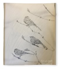 Feathers Friends Fleece Blanket