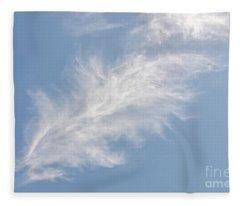 Feathers In The Sky Fleece Blanket