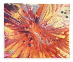 Feathers Of Fiery Orange Light Fleece Blanket