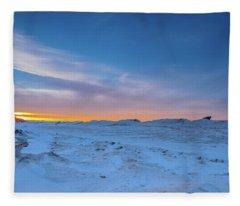February Sunset Fleece Blanket