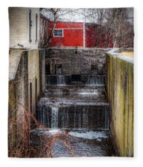 Feeder Canal Lock 13 Fleece Blanket