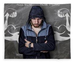 Feel Weak Think Strong Fleece Blanket