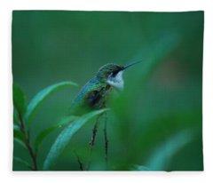 Feeling Green Fleece Blanket