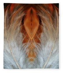 Female Feathers Fleece Blanket