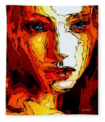 Fleece Blanket featuring the digital art Female Tribute II by Rafael Salazar