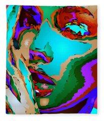 Fleece Blanket featuring the digital art Female Tribute V by Rafael Salazar