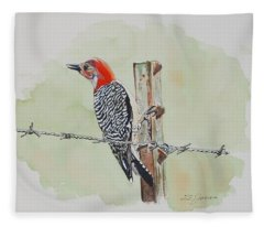 Fence Sitting Fleece Blanket