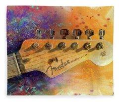 Fender Head Fleece Blanket