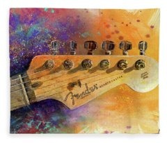 Guitar Fleece Blankets