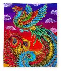 Fenghuang Chinese Phoenix Fleece Blanket
