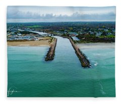 Fenway Beach Breakwater Fleece Blanket