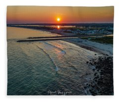 Fenway Beach Sunset Fleece Blanket