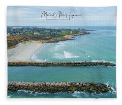 Fenway Beach, Weekapaug Fleece Blanket