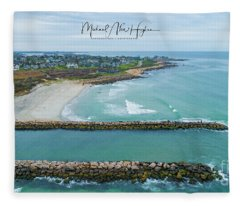 Fenway Beach, Weekapaug Fleece Blanket