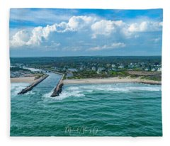 Fenway Beach, Weekapaug,ri Fleece Blanket