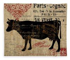 Ferme Farm Cow Fleece Blanket