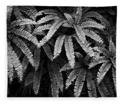 Fern And Shadow Fleece Blanket