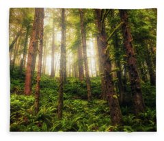 Fleece Blanket featuring the photograph Ferngully by Rick Furmanek