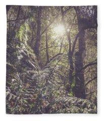 Ferns And Sunshine Fleece Blanket