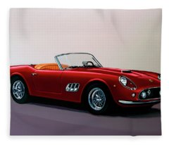 Ferrari 250 Gt California Spyder 1957 Painting Fleece Blanket