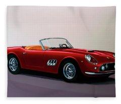 Ferrari 250 Gt California Spyder 1957 Painting Fleece Blanket