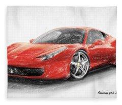 Ferrari 458 Italia Fleece Blanket
