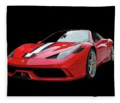 Ferrari 458 Speciale Aperta Fleece Blanket