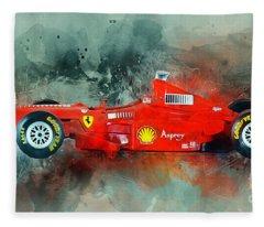 Ferrari F1 Fleece Blanket