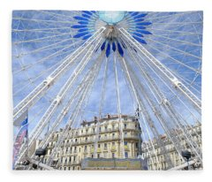 Ferris Wheel Marseille Fleece Blanket