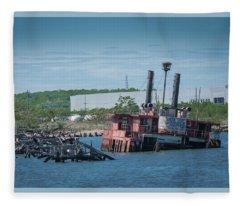 Ferry Graveyard Fleece Blanket