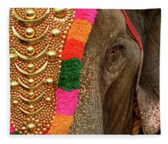 Festival Elephant Fleece Blanket