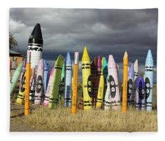 Festival Of The Crayons Fleece Blanket