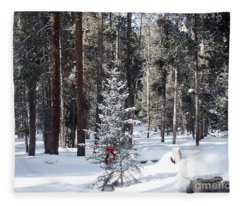 Festive Forest Fleece Blanket