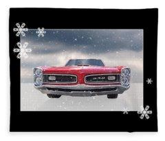 Festive Pontiac Gto Fleece Blanket