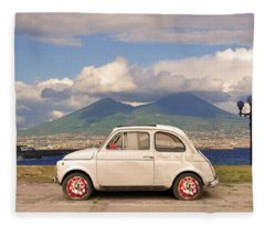 Fiat 500 Pizza Fleece Blanket