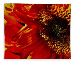 Fickle Sunflower Fleece Blanket