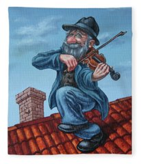 Fiddler On The Roof. Op.#2773 Fleece Blanket
