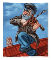 Fiddler On The Roof. Op.#2774.miniature Fleece Blanket