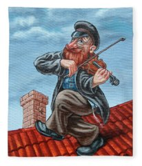 Fiddler On The Roof. Redhead Fleece Blanket