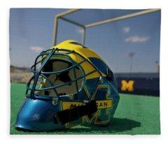 Field Hockey Helmet Fleece Blanket