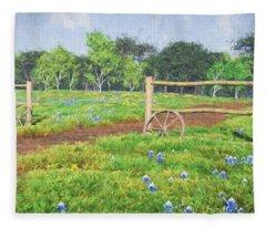 Field Of Bluebonnets Fleece Blanket