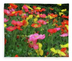 Field Of Poppies Fleece Blanket